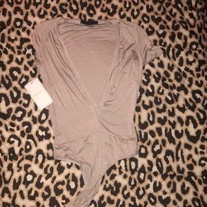 Low plunging bodysuit